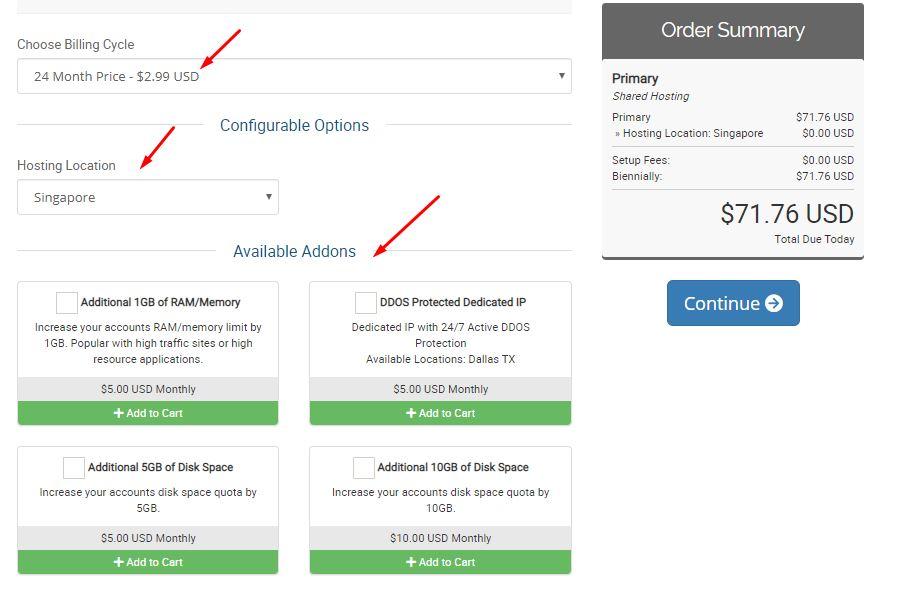 chọn thời gian và địa điểm đặt server của hosting