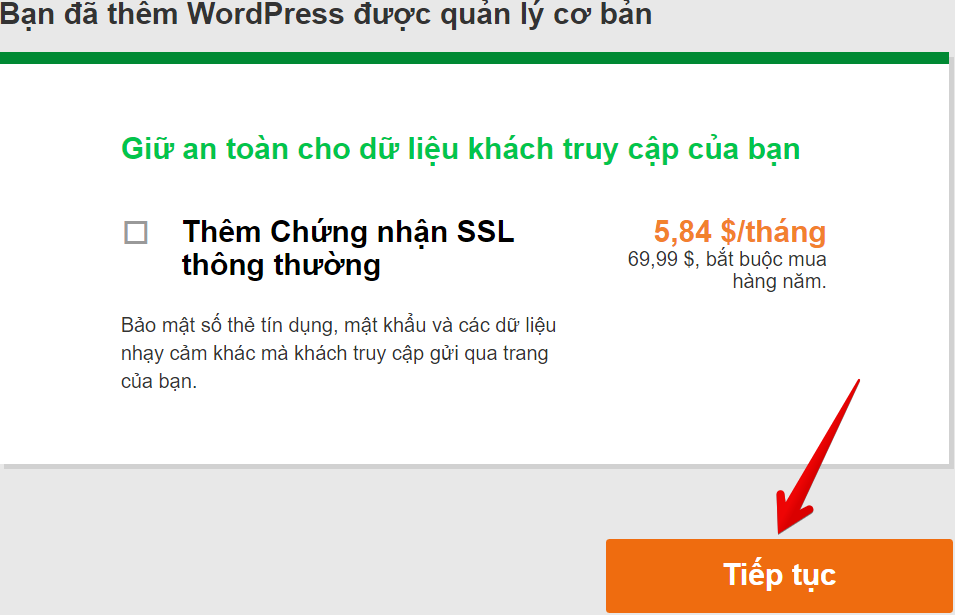 huong dan mua godaddy wordpress hosting 12 nam
