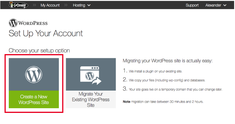 huong dan su dung godaddy wordpress managed hosting 2