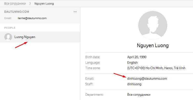 tạo email tên miền riêng thành công