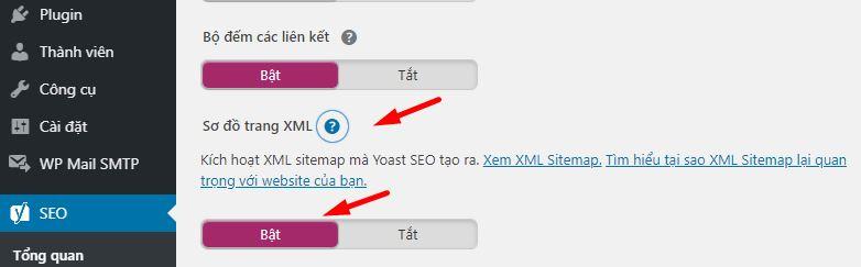 cài đặt sitemap cho wordpress bằng yoast seo