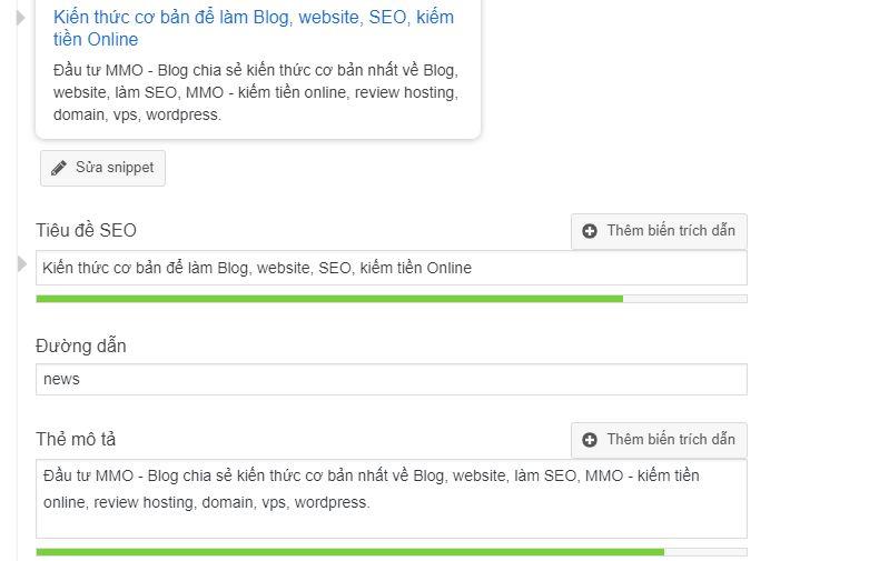 tối ưu thẻ title và description cho wordpress
