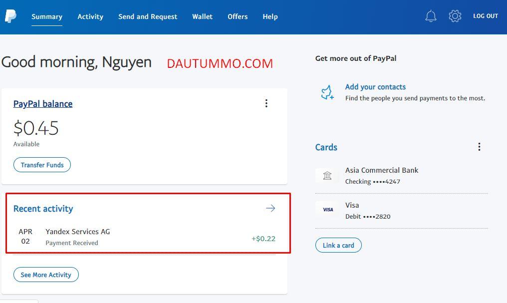 yandex toloka thanh toán tiền vào paypal 1