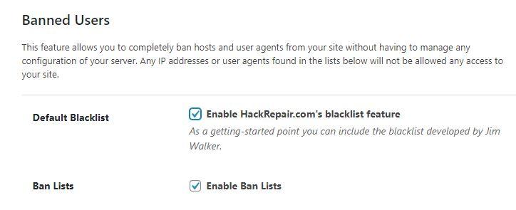 khóa user và máy chủ trên ithemes security