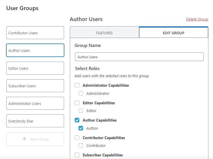 user group ithemes security chỉnh sửa quyền người dùng 1
