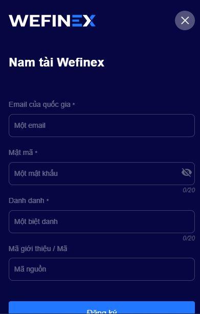 đăng ký wefinex bước 1 1