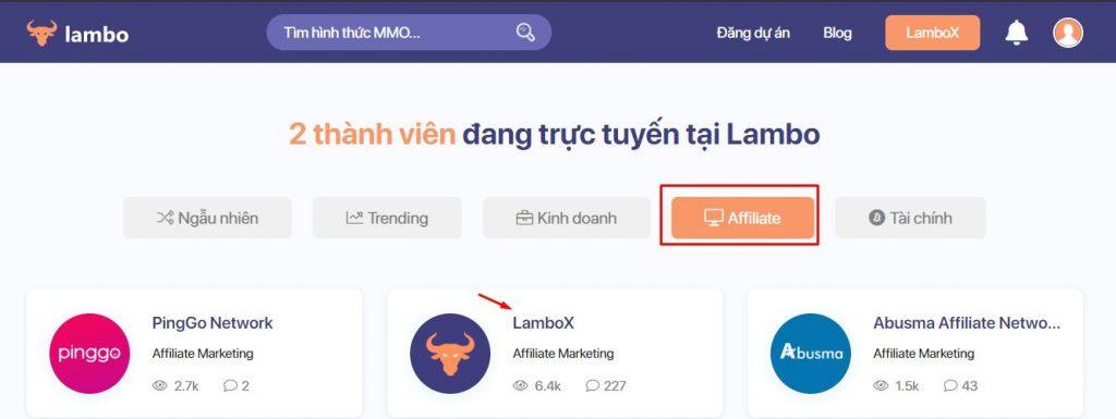 cách đăng ký lambox kiếm tiền affiliate trên lambo 1