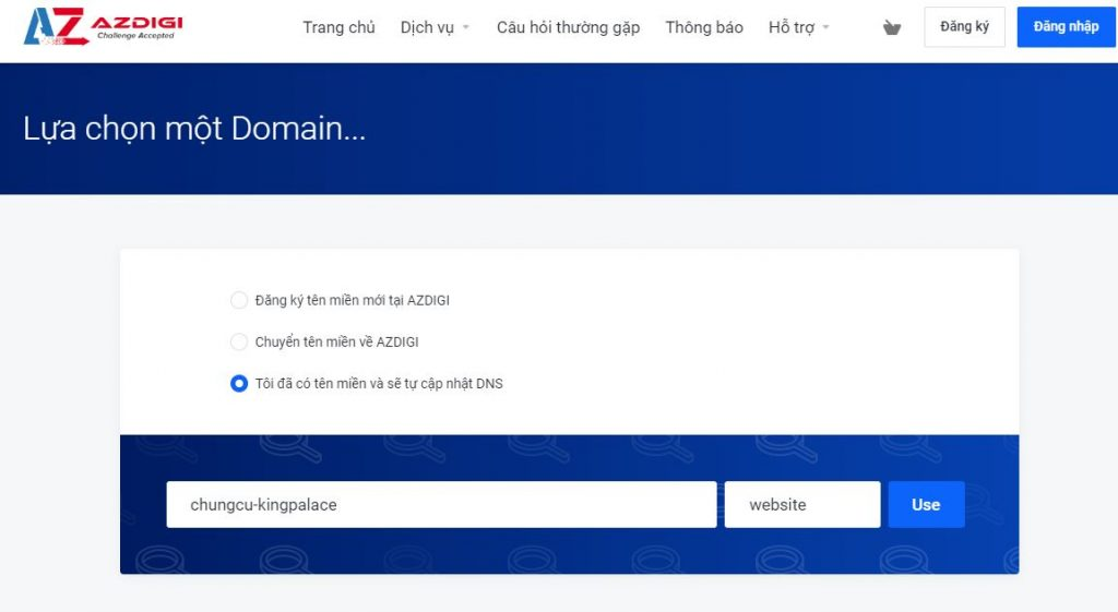 cách mua hosting tại azdigi 2