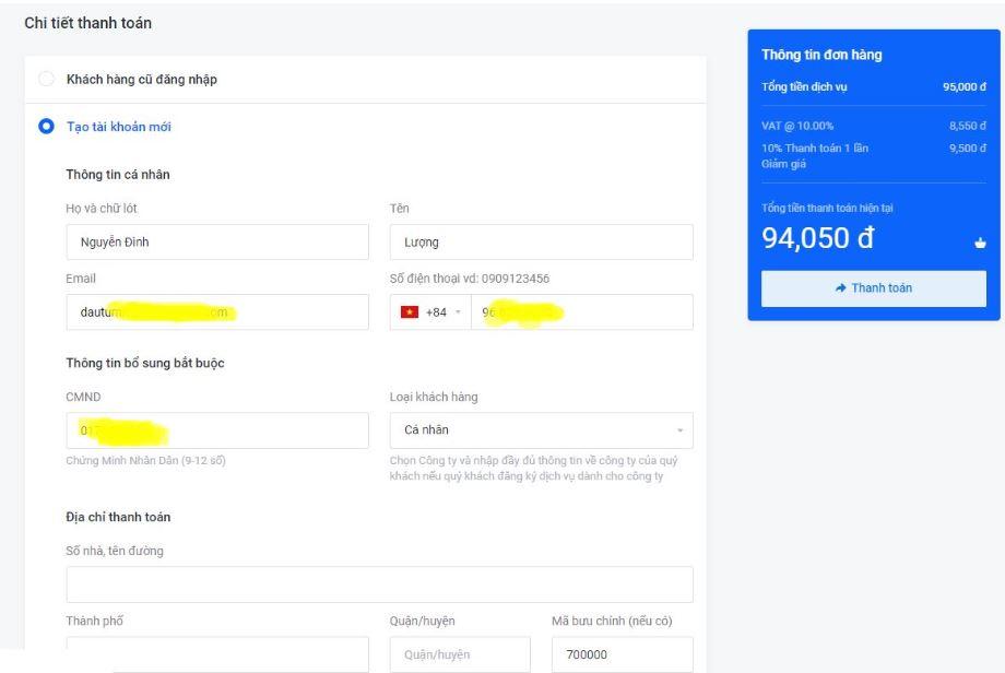 cách mua hosting tại azdigi 5 3